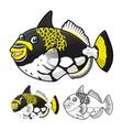 Trigger Fish vector image