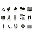 Isolated communication Icons on white background vector image vector image