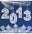 2013 Christmas New Year Background vector image vector image