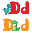 letter D dinosaur vector image vector image