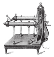 Electrostatic Generator vintage engraving vector image vector image