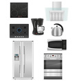 set of kitchen appliances 01 vector image vector image
