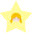 my happy shining star girl vector image