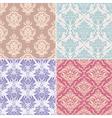 seamless floral patterns vector image vector image