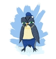 Angry penguin vector image