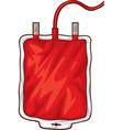 Blood Bag vector image