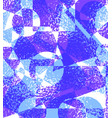 blue purple grunge background of geometric shapes vector image