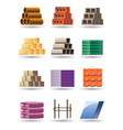 Building and constructions materials vector image