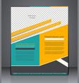 Business brochure flyer design layout cover vector image