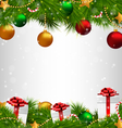 Christmas tree with adornments on grayscale vector image