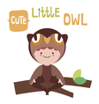 Cute little owl baby vector image