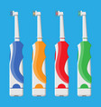 electric toothbrush in different colors vector image