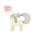 fashion patch print type forever unicorn vector image