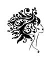 Female head silhouette for your design vector image
