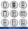 light refrigerator icons vector image