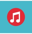 music note flat isolated icon vector image