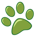 Green Paw Print vector image vector image