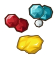 Yellow red and blue precious stone vector image