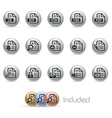 Document Icons 1 MetalRound Series vector image vector image