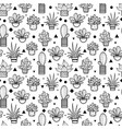 black seamless repeat pattern with growing vector image
