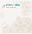 light chemistry background vector image