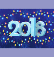 2018 poster with pattern vector image