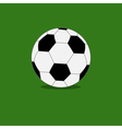 Football soccer ball icon with shadow green grass vector image