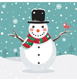 Of A Snowman vector image vector image
