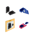 Set of SD card or Media Cards vector image