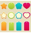 Tags and frames vector image vector image