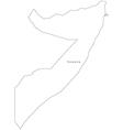Black White Somalia Outline Map vector image vector image