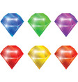 adamants and diamonds set collection isolated vector image