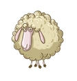 Cartoon fluffy sheep vector image