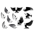 Eagles for logo tattoo or heraldic design vector image