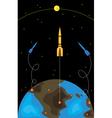 spaceships vector image