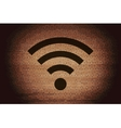 WI-FI Flat modern web button and space for your vector image