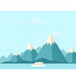 Mountain nature3 vector image