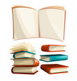 big piles set of books vector image