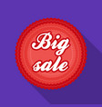 big sale icon in flat style isolated on white vector image