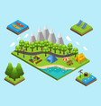 isometric outdoor recreation composition vector image