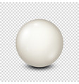 billiardwhite pool ball snooker transparent vector image