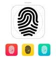 Fingerprint loop type icon vector image