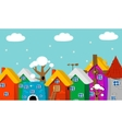 Cartoon city landscape vector image