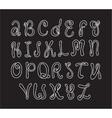 Hand drawn alphabet Doodle letters set White vector image