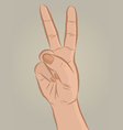 Handsign2 vector image