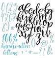 Modern style calligraphic letters vector image
