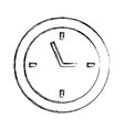 sketch draw clock cartoon vector image