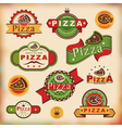 Vintage pizza labels vector image