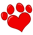 Love Paw Print vector image