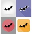 halloween flat icons 07 vector image